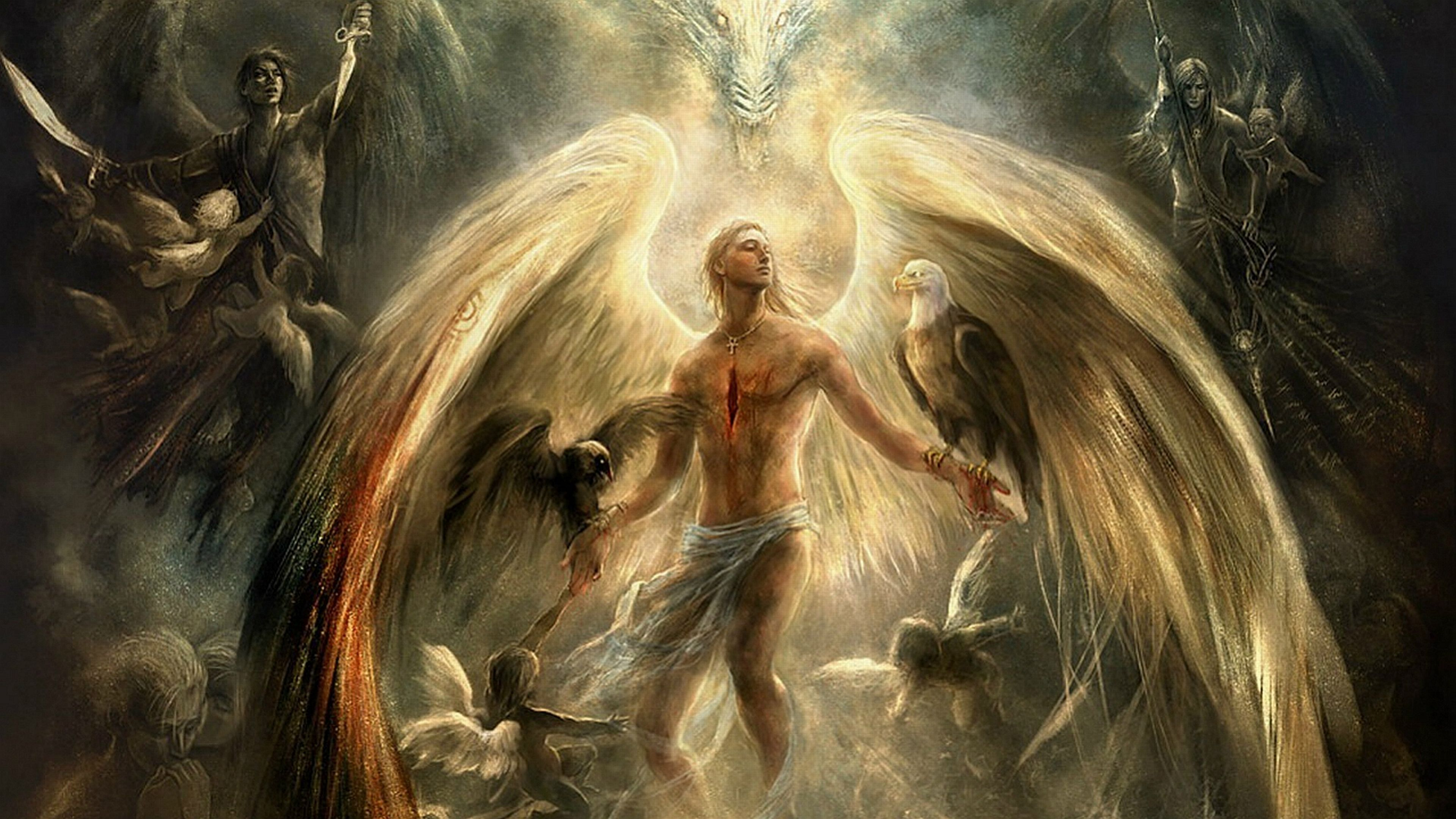 220 Angel Warrior HD Wallpapers | Backgrounds - Wallpaper Abyss
