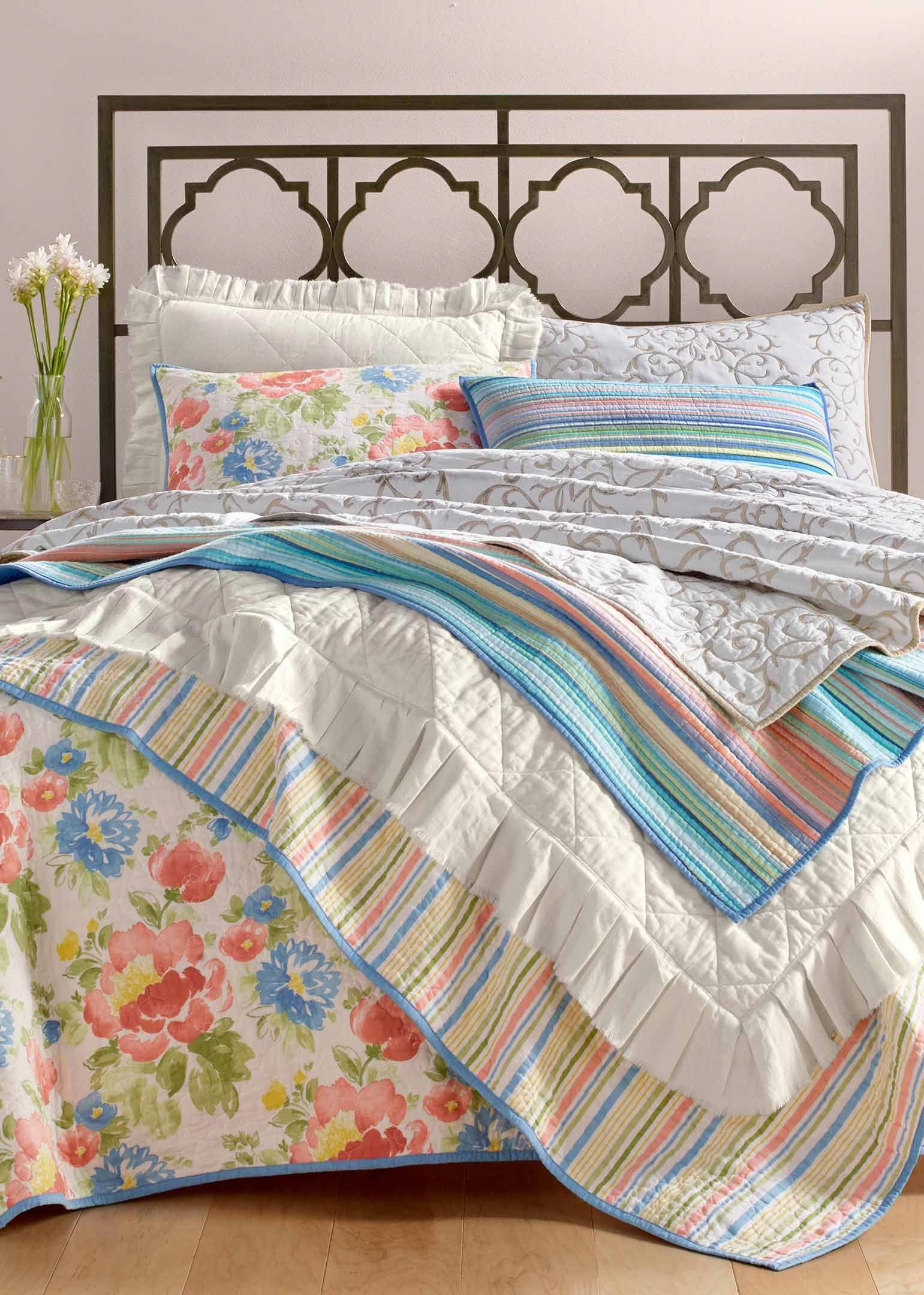 Tropicalia quilt and sham collection created for macyus in