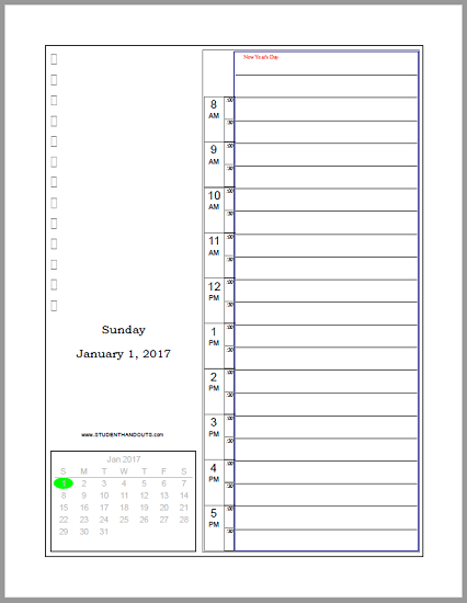 Daily BulletStyle Journal Planner  Free To Print