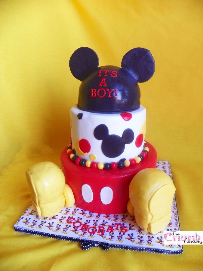 Mickey Mouse Baby Shower Cakes | Mickey Mouse Baby Shower Cake U2014 Baby Shower