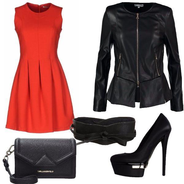 Passione rossa e nera: outfit donna Rock per serata fuori | Bantoa