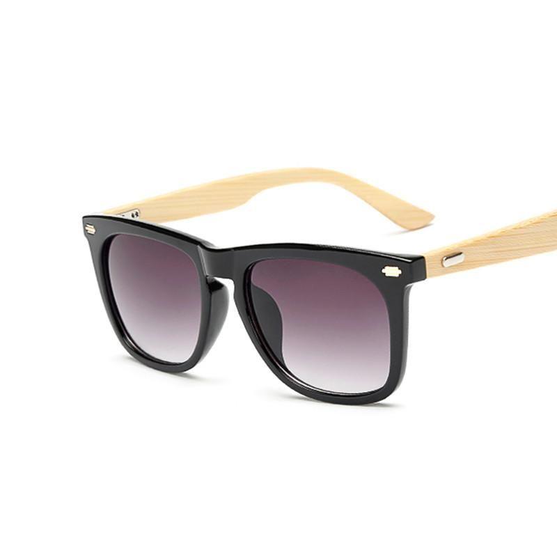 edd679009b Bamboo Sunglasses Men Wooden Sun glasses Women Brand Designer Mirror  Original Wood Glasses