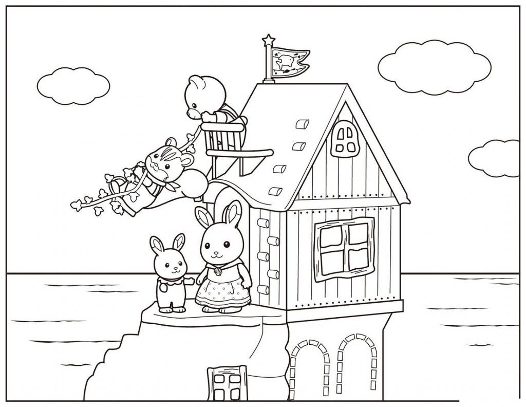 Printable House Coloring Pages For Kids And Adults