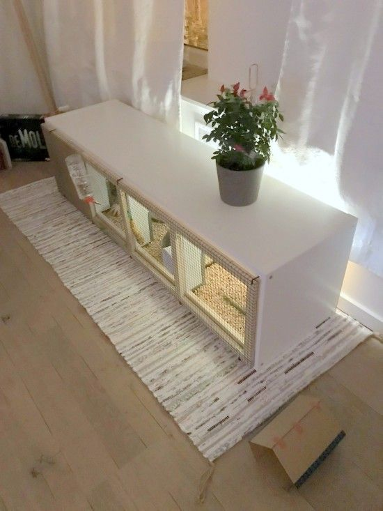 Kallax Rabbit House Ikea Hackers Konijnenhok