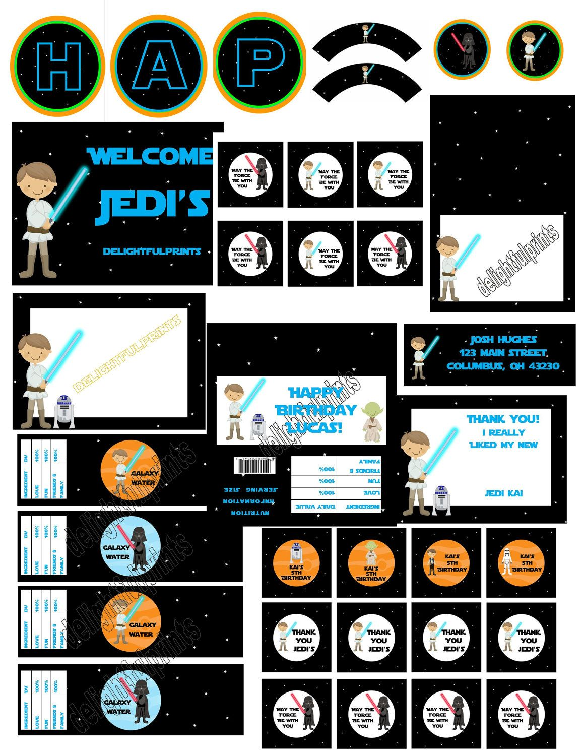 Star Wars party inspired complete party by delightfulprints