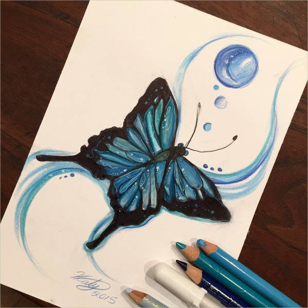 9 Butterfly Drawings Butterfly Drawing Color Pencil Art Drawings
