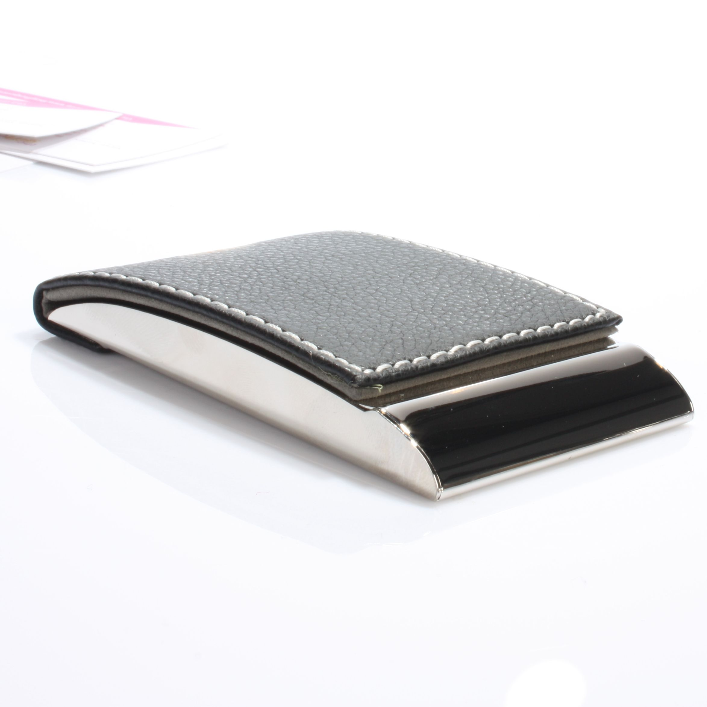 Curved Leather Business Card Case | The Gift Experience | Business ...