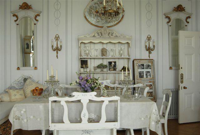 Stunning Swedish Interior Design Antique 1700s Table And Handmade Bespoke Mirrors Country Dresser