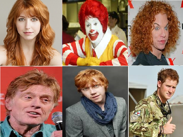 CALIFORNIA | LOCAL Celebrities file Federal discrimination lawsuit June 4th, 2014 | By H Grandpa  A law suit was filed today in Los Angeles courts by the Wendy's girl, Ronald McDonald, comedian Carrot Top and a few other people no one cares about seeking protection against discrimination for the thousands of unfortunate Americans cursed with what is characterized as high levels of the reddish pigment pheomelanin or, being a redhead.  During a press conference outside the courthouse, Mr. ...