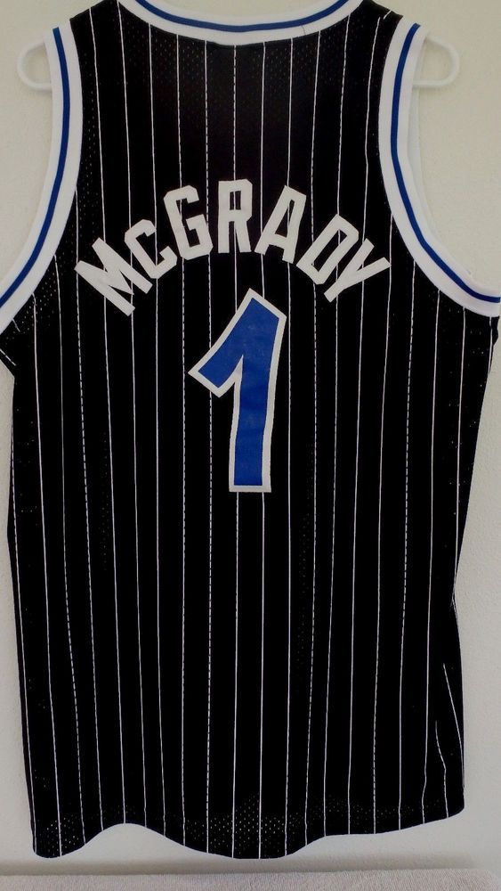 Tracy Mcgrady  1 Men s Vintage Nike Pinstripe Orlando Magic SEWN Jersey Sz  Large  Nike  OrlandoMagic c5201c5be