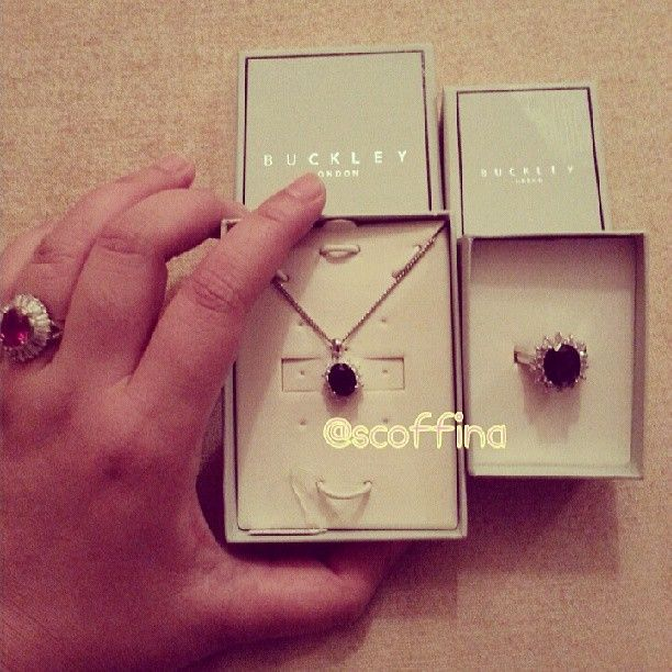 Photo of our beautiful Buckley London Pendant & Ring Royal set by scoffina on Instagram