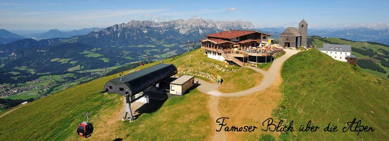 Auf der Hohen Salve in Hopfgarten im Brixental bietet sich Ihnen ein wunderschöner Rundblick: strahlende Sonne, kein Wölkchen und ein atemberaubendes Panorama. Mal ganz davon abgesehen, dass sich herrliche Wander- und Radwege für Ausflüge anbieten, empfiehlt sich der Ort für malerische Spaziergänge. 2, 3 o. 4 Nächte im Landgasthof in Hopfgarten mit Bergbahnbenutzung.