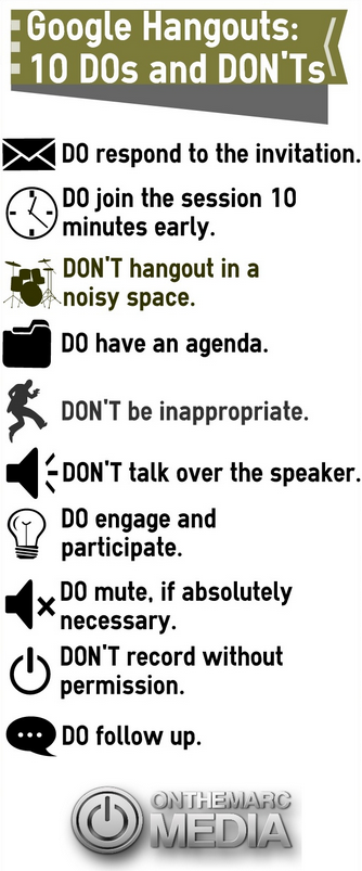 DonT Be The Google Hangouts Jerk  Dos And DonTs For Hanging