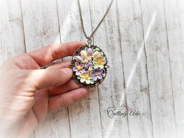 fiori quilling / carta / gioielleria