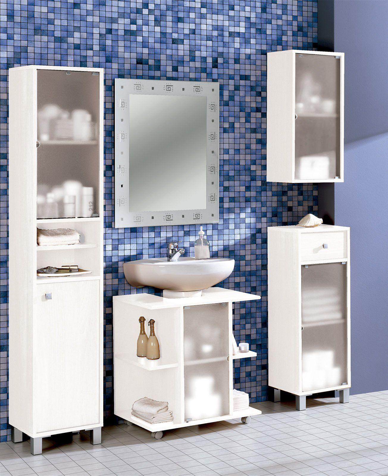 Miroytengo Mueble baño Aseo bajo Color Blanco para Lavabo ...