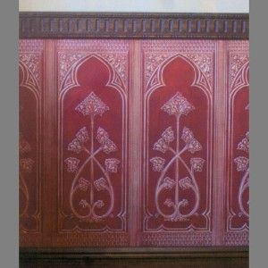 Anaglypta Dado Paneling Gothic paintable wallpaper