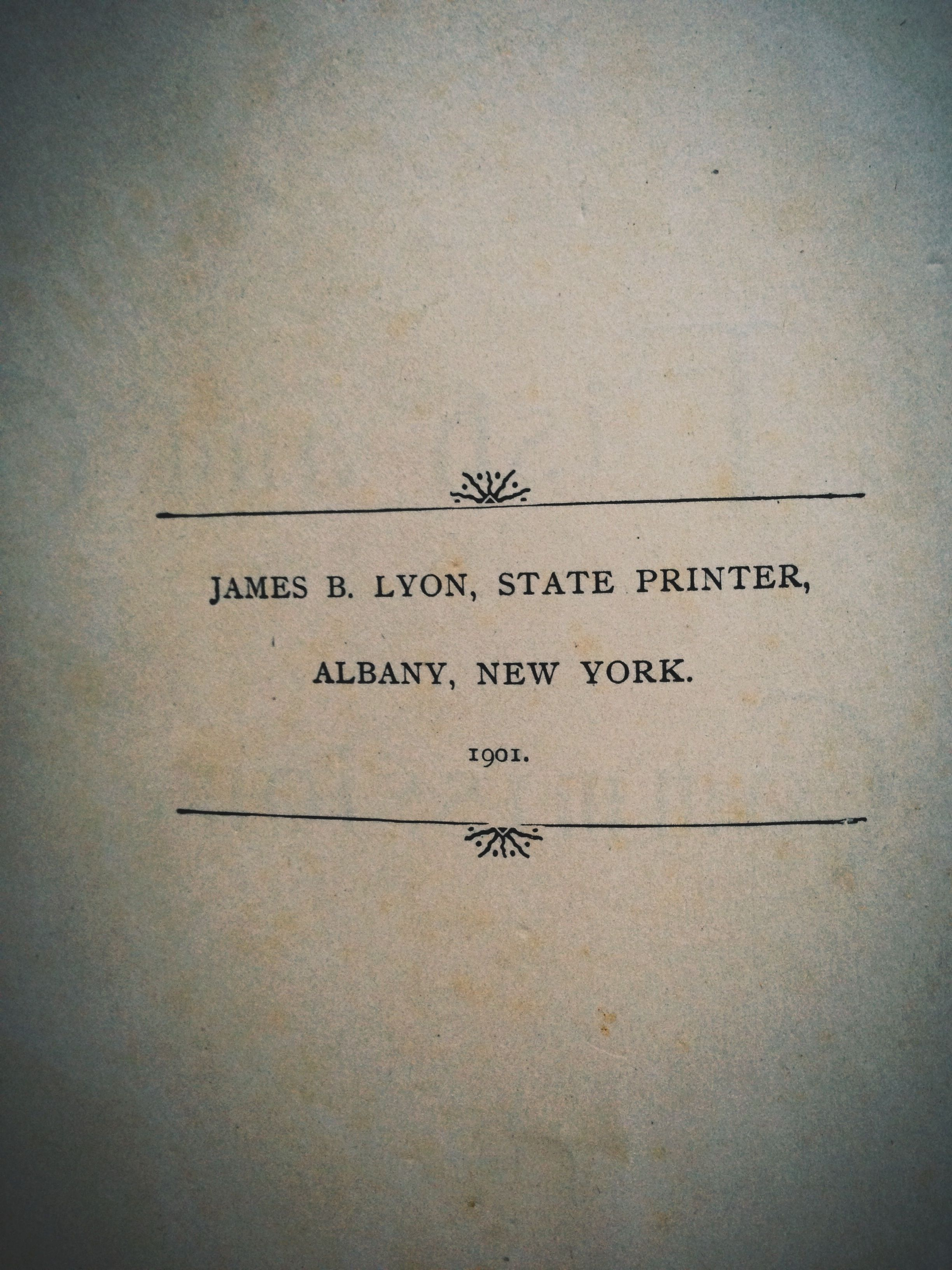 """1900 NEW YORK """"Forest Fish & Game Report"""". 230 York"""