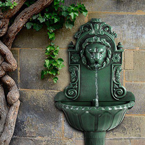 Jago Wandbrunnen Gartenbrunnen Inkl Wasserpumpe Und Schl Https