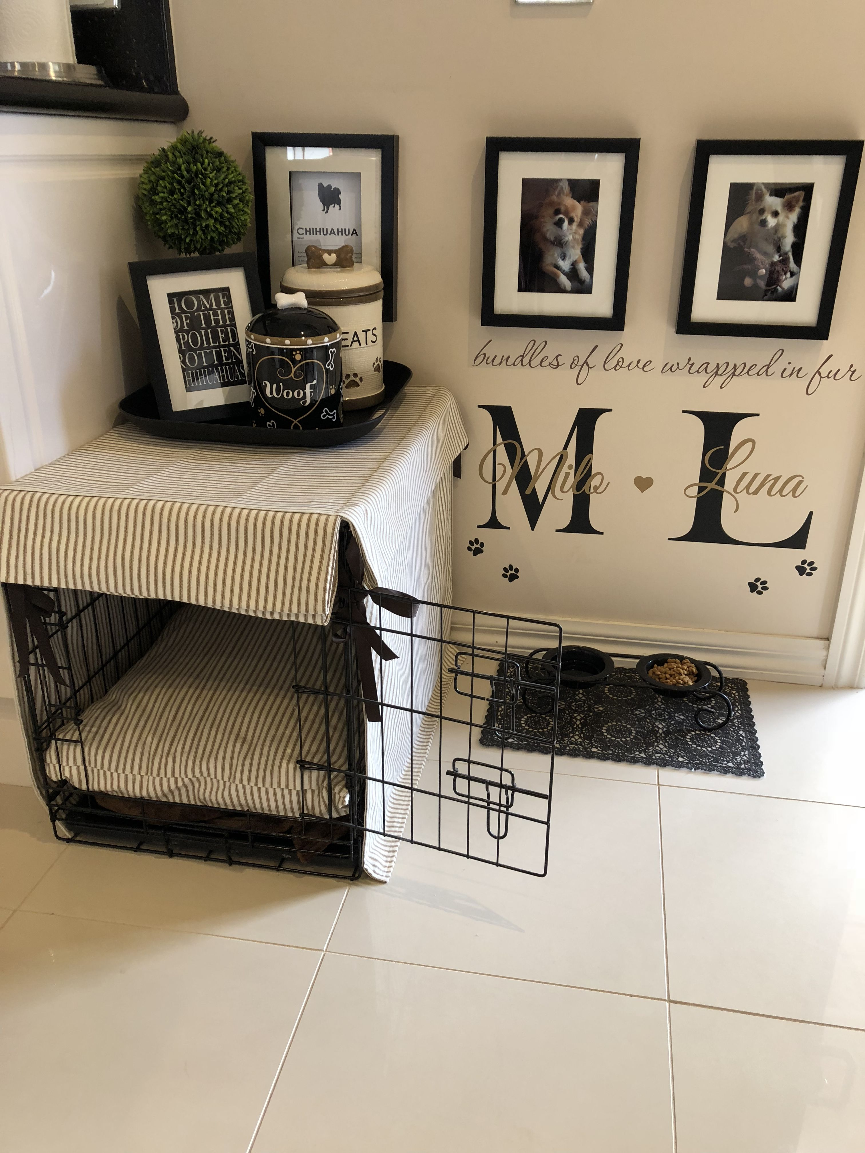 Dog Crate Corner Puppy Room Sweet Home Home Decor