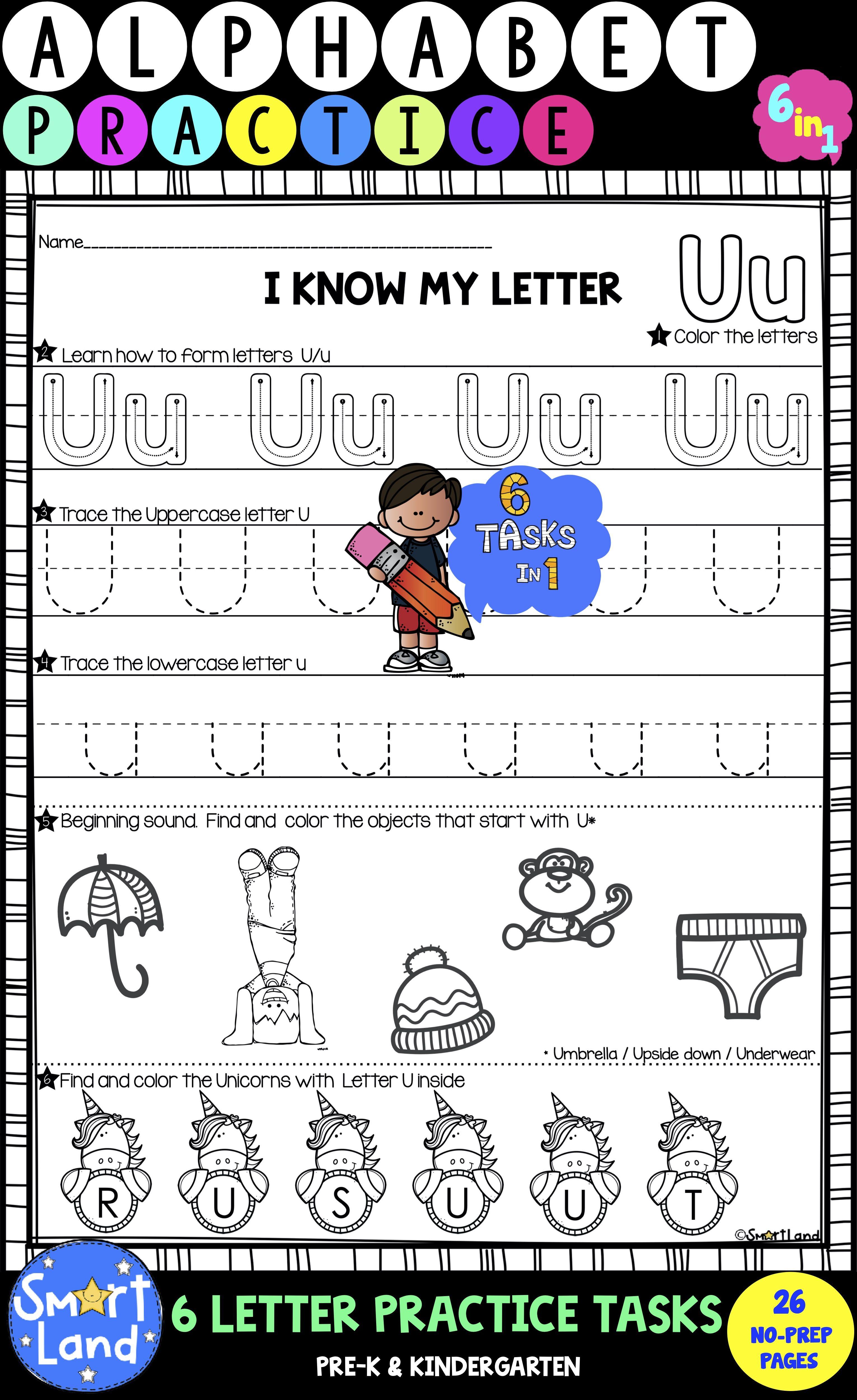 Alphabet Practice 6in1