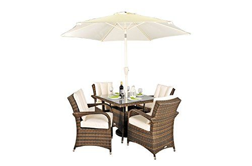 Rattan Garden Furniture 4 Seater arizona rattan garden furniture 4 seat square glass top table