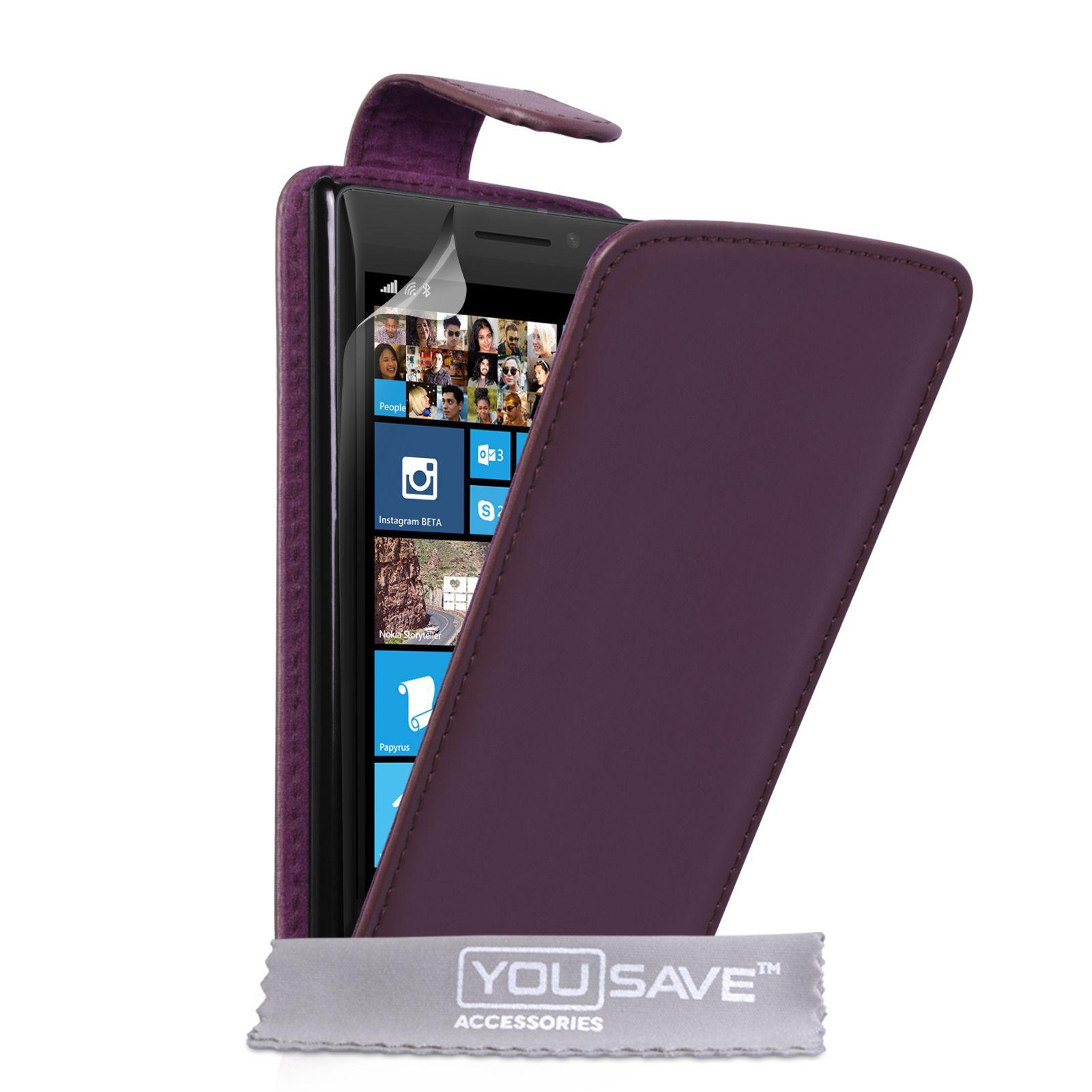YouSave Nokia Lumia 930 Leather-Effect Flip Case - Purple   Mobile Madhouse