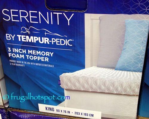 tempur pedic memory foam mattress topper Serenity by Tempur Pedic Memory Foam Mattress Topper. #Costco  tempur pedic memory foam mattress topper