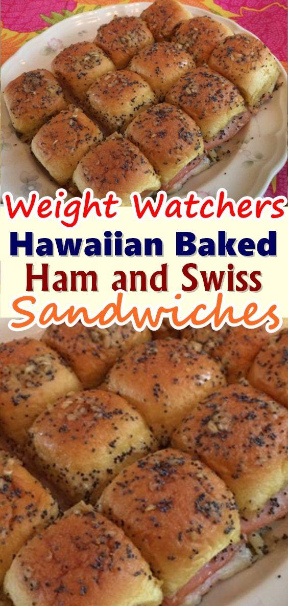 Hawaiian Baked Ham and Swiss Sandwiches #breakfastslidershawaiianrolls
