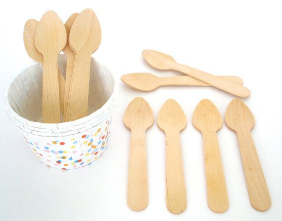 Mini Wooden Spoons Taster Wooden Spoons Ice Cream Spoons