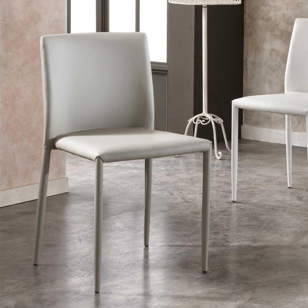 Bemerkenswert Esstisch Stühle Beige Beste Wahl Esszimmerstuhl In Hellgrau Kunstleder (4er Set) Jetzt