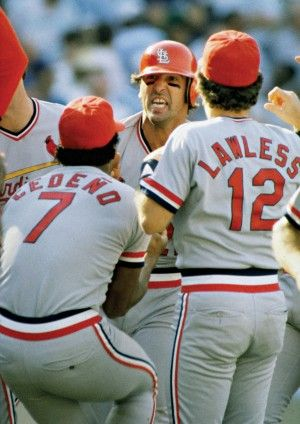 Photo of Oct. 16, 1985: Jack Clark's home run sends the Cardinals to the World Series