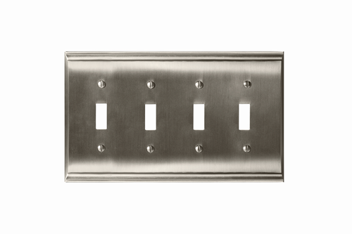 Candler 4 Toggle Wall Plate in Satin Nickel BP36503G10