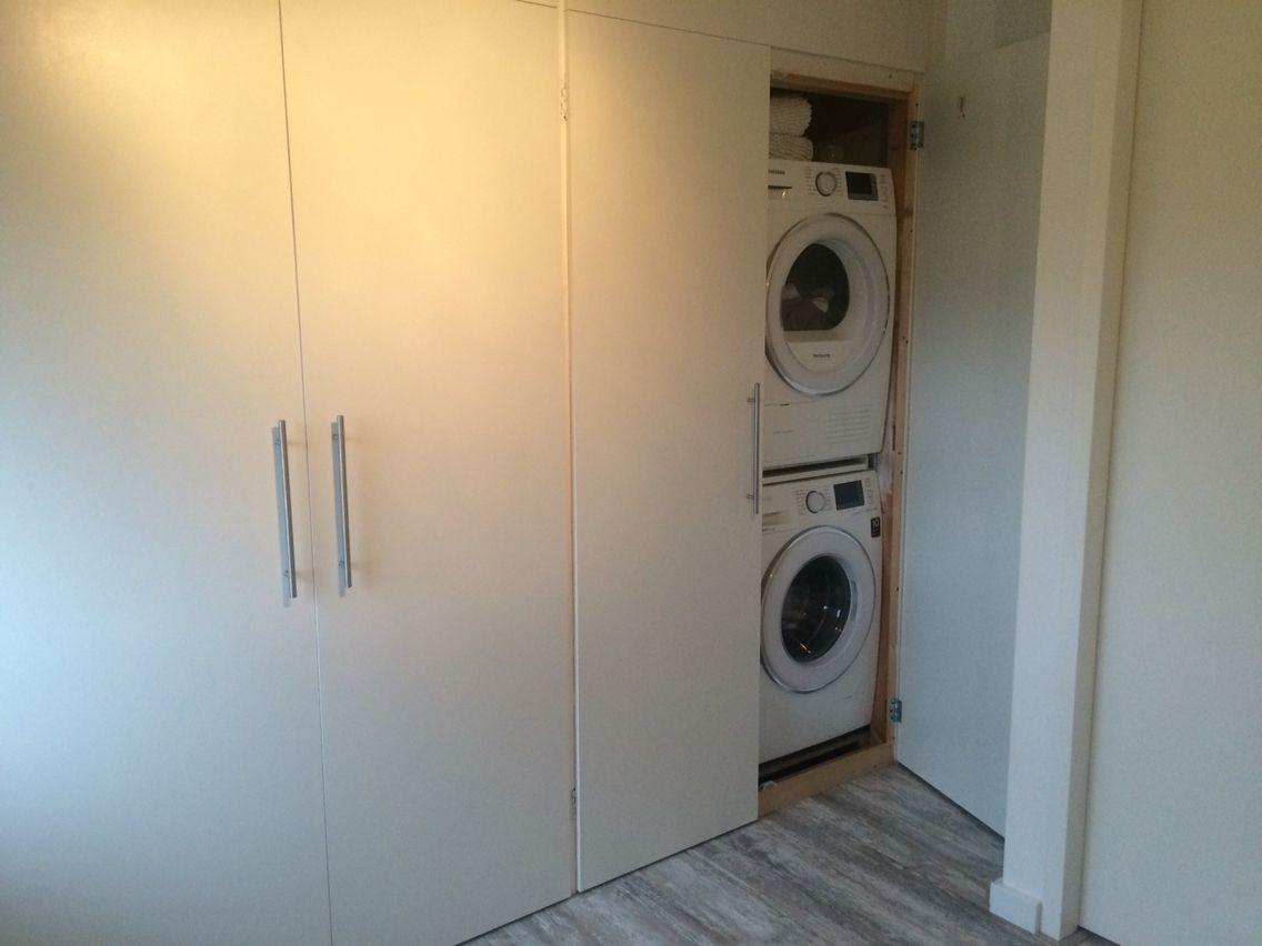 Washok wasmachine wegwerken wasdroger verstoppen kasten washok