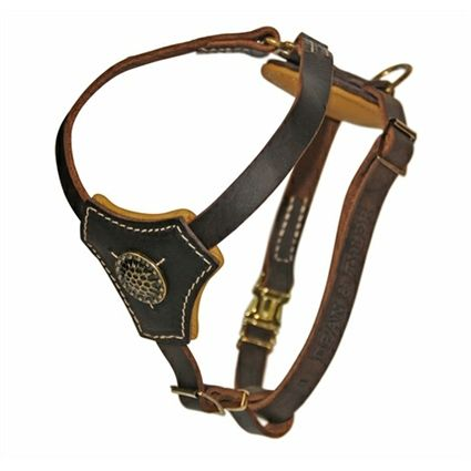 Leather Small Dog Puppy Harness Royal Knight Dog Harness