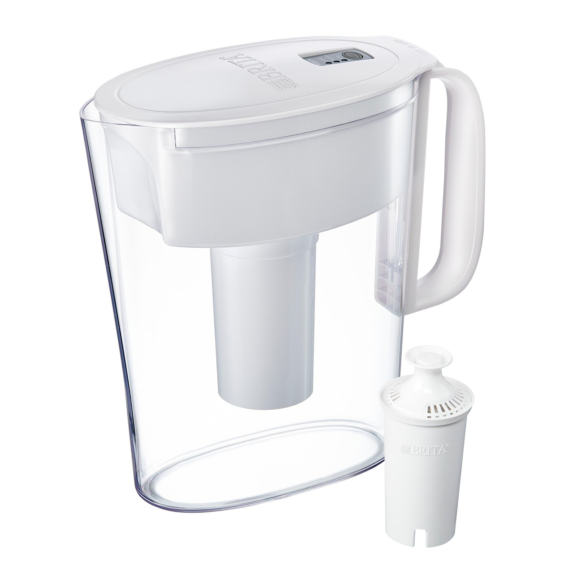 Brita Small 5 Cup Bpa Free Water Filter Pitcher With 1 Standard