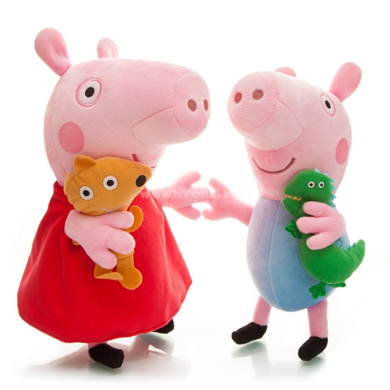Peppa Pig Plush Toy Peppa George 2pcs 29 33cm 11 13 Large Size Peppa Pig Plush Peppa Pig Toys [ 1500 x 1500 Pixel ]