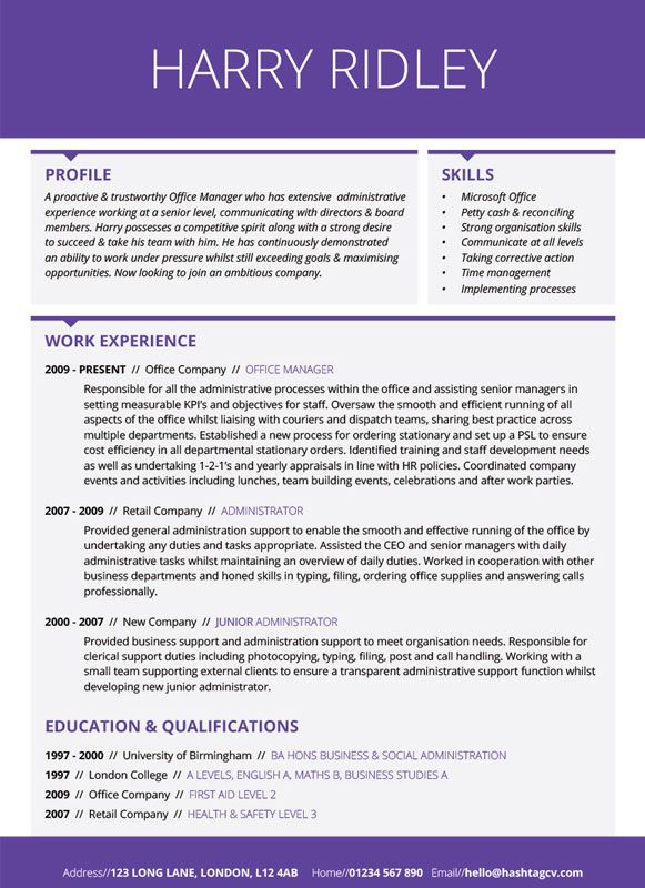 Subdivision Cv  Resume Design Purple From Hashtag Cv  Standout