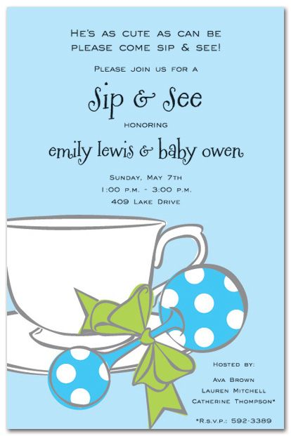 Sip And See Invite Wording Cute Come And Go Brunch Mimosa Coffee