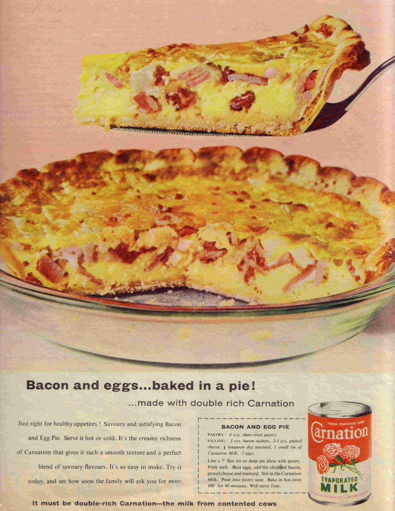Bacon And Egg Pie Recipes Vintage Recipes Retro Recipes