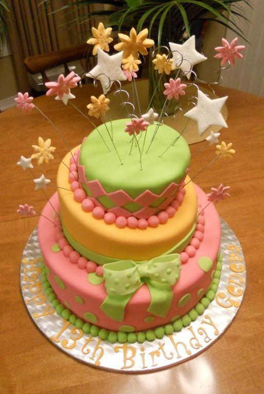 13th Birthday Girl Cake Edie 2nd Birthday Party Ideas