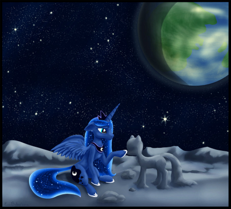 pic of princess luna mlp wearing headphones - Google Search