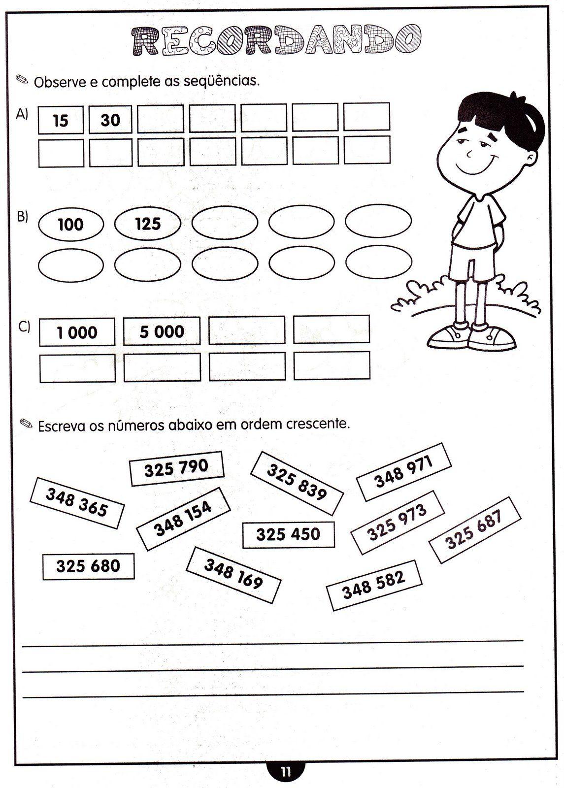 Apostila Atividades De Matemática Para A Educação Infantil E Ensino