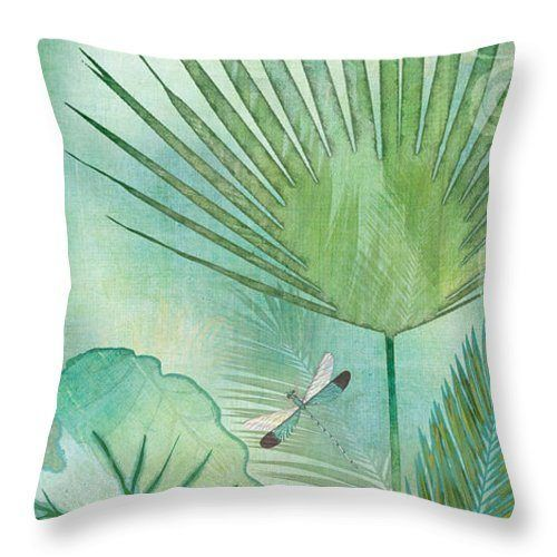 Rainforest Tropical Elephant Ear And Fan Palm Leaves With Botanical Dragonfly CLH18100715P Handmade Pillowcase #elephantearsandtropicals