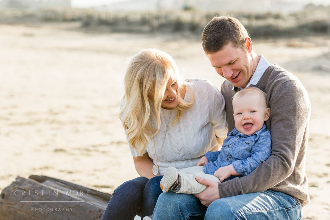 Crissy Field and Palace of Fine Arts Family and One-Year-Old Cake Smash Lifestyle Session | Cristin More Photography | Family of Three