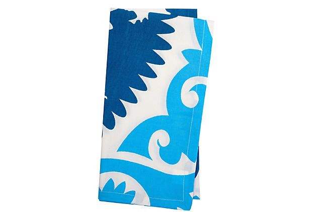 Love these in blue!  S/4 Suzani Napkins, Blue on OneKingsLane.com