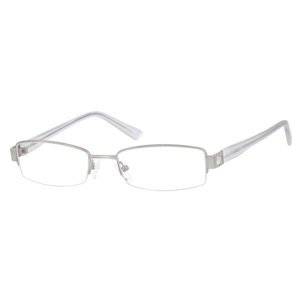 1b193035544 391411 Stainless Steel Half Rim Frame with Acetate Temples (Same Appearance  as Frame  8914)