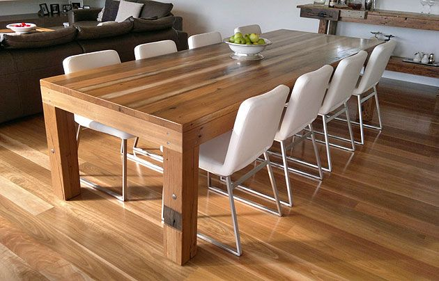 Recycled Hardwood Dining Table Recycled Lane Melbourne