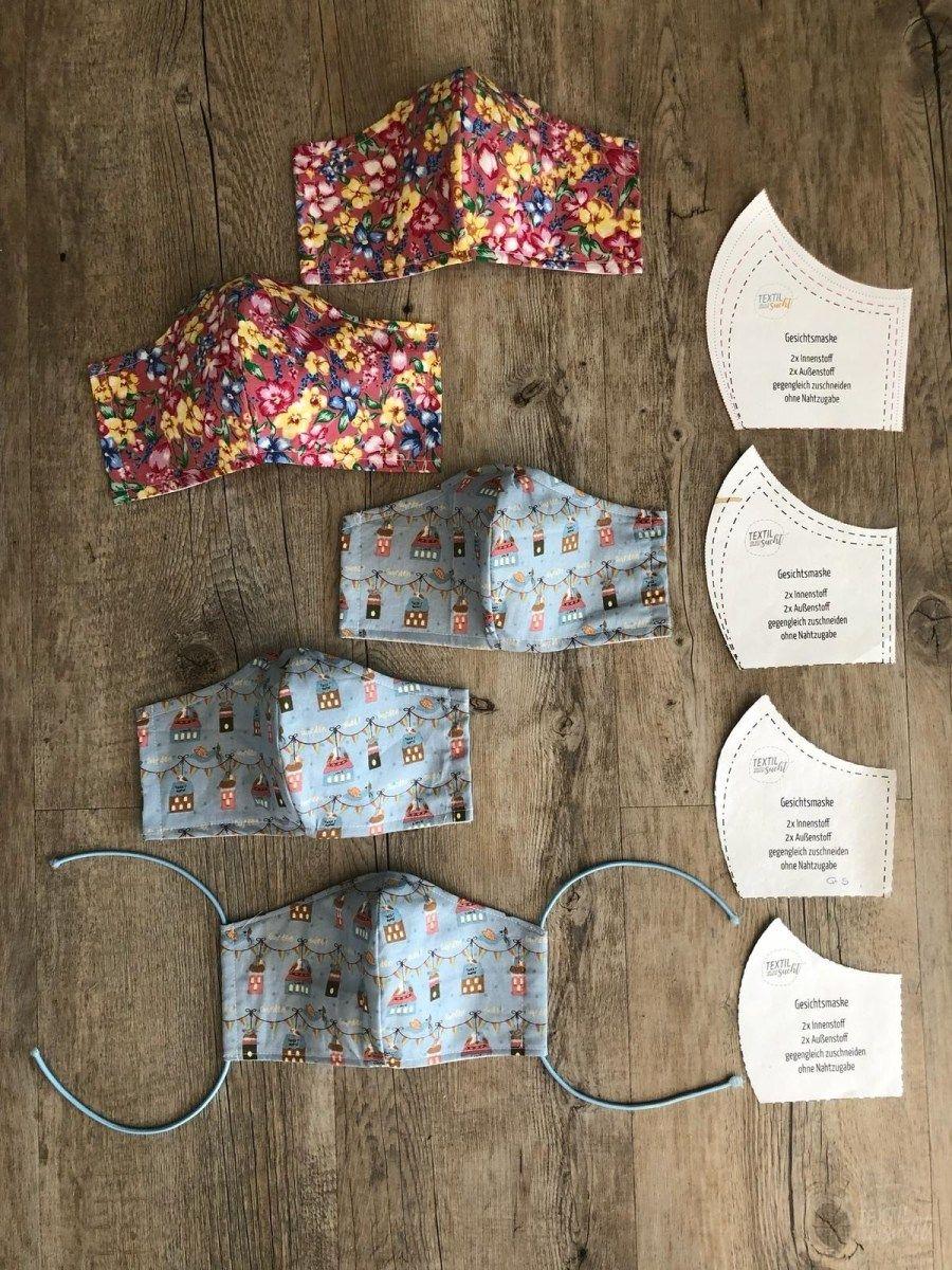 Atemschutzmaske nähen: kostenlose Anleitung zum Mundschutz nähen + Schnittmuster » Textilsucht®