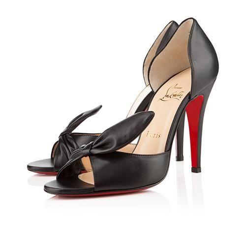 Black CL Livre 100mm Pumps Leather Womens Prom Heels