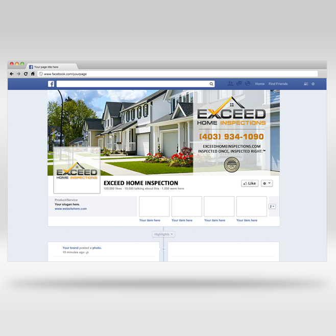 Create A Visually Stunning Facebook Cover For Exceed Home Inspections By  Mykel Kent